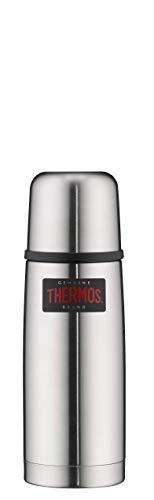 THERMOS ThermosflascheEdelstahl Light&Compact, Edelstahl mattiert 350ml, Isolierflasche mit Trinkbecher 4019.205.035 spülmaschinenfest, Thermoskanne hät 12 Stunden heiß, 24 Stunden kalt, BPA-Free