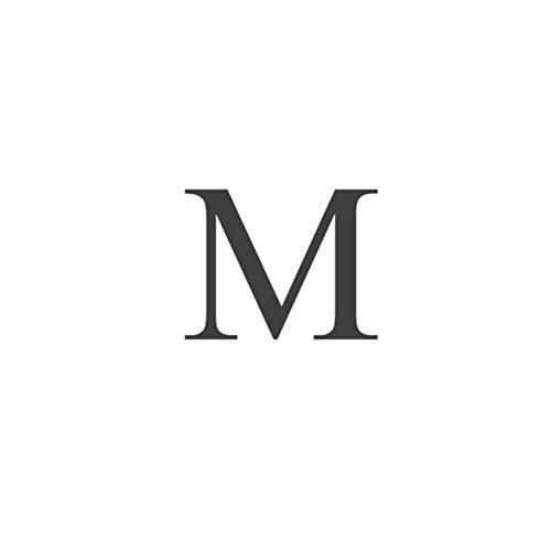 LPNJLALA Anelli con Lettere di Cristallo Oro Argento Colore Lettera Iniziale Nome Anelli Lettera di Fascino Regalo d'Amore alla Moda, M, Colore Argento