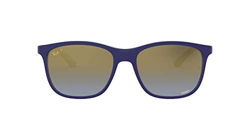 Ray-Ban RB4330CH-6015J0 Gafas, Matte Blue, 56 Unisex Adulto