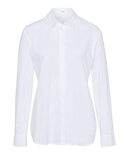 BRAX Damen Style Victoria Hemdkragen Klassisch Bluse, Weiß, 34