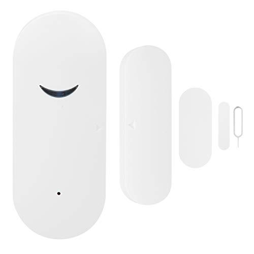 Chanmee Detector de Ventana de Puerta, Sensor magnético de Puerta, Blanco 3V Inteligente para casa, Garaje, Oficina, apartamento