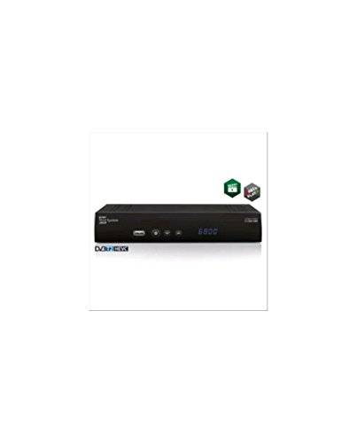 TELE System TS6800 T2HEVC Terrestre Alta Definición Total Negro TV Set-Top Boxes - Reproductor/sintonizador (Cable, Terrestre, Digital, DVB-T,DVB-T2, 576i,720p,1080i,1080p, 4:3, 16:9, 60 pps)