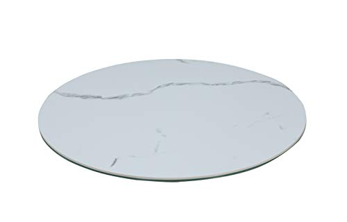MILAN Lacey Lazy Susan, White -  Chintaly, LACEY-LAZY SUSAN-CER