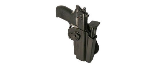 IMI RSR Hand Gun Polymer Holster + integrated Mag Pouch Sig Sauer Mosquito Black