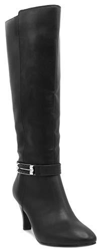 LONDON FOG Womens Event Heeled Dress Boot Black 8.5