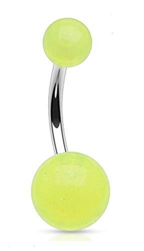 Piercing para ombligo de color verde brillante en la oscuridad, no colgante – otros diseños disponibles en nuestra tienda de Amazon Pegasus Body Jewellery