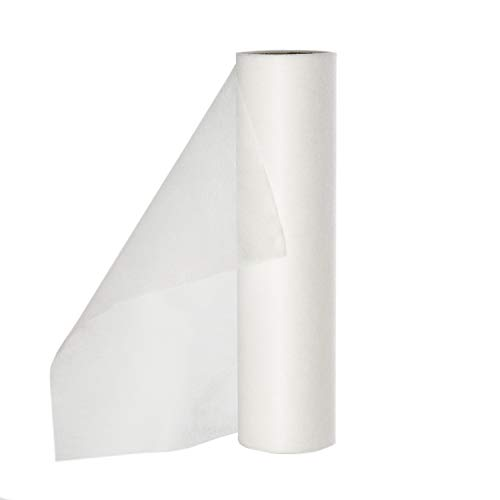 TerraGala Bastelvlies, Dekovlies, unifarbenes Textil, 20g/m², 20m x 0,3m, vielseitig einsetzbar zum Basteln und Dekorieren (weiß)