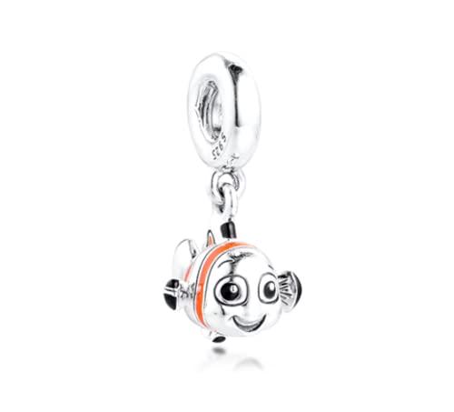 BO LAI DE Beads Fits para Collares Pulseras 100% 925 Sterling-Silver-Jewelrying Hallazgo Cuelga Charms