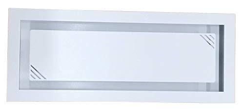 Rejilla decorativa para chimeneas de ela, con ventilación y ventilación de EPGA (50 cm x 20 cm de longitud, color blanco)