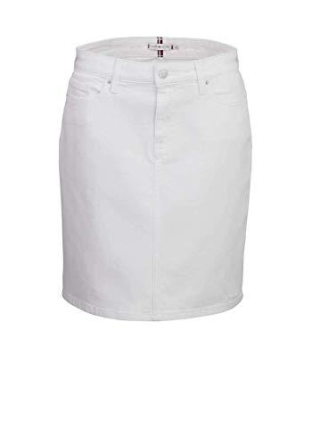 Tommy Hilfiger - Falda vaquera con 5 bolsillos, color blanco (YBR White) 38