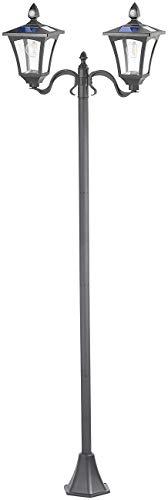 Royal Gardineer Solarlampen: Solar-LED-Gartenlaterne, 2 flammig, PIR- & Dämmerungssensor, 600 Lumen (LED Gartenlampen)