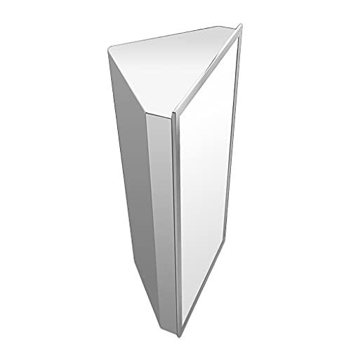 Mirror Cabinets Spegel med hyllan, rostfritt stål väggmonterad spegelskåp, hörn triangel väggskåp i badrum, höger vinkel förvaringsskåp (Color : Right door, Size : 58 * 32 * 19cm)