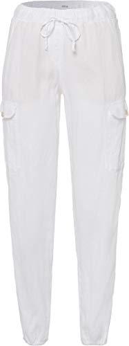 BRAX Mareen Linen Love Pantaloni, Bianco (White 99), W34/L32 (Taglia Unica: 44) Donna