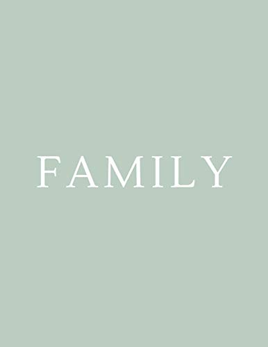 Family: A Decorative Book | Perfect for Coffee Tables, Bookshelves, Interior Design & Home Staging (Family Book Set - Green, Band 4)