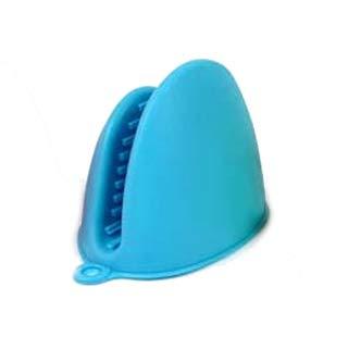 ZZM Paire de Gants de Cuisine en Silicone résistants à la Chaleur Bleu