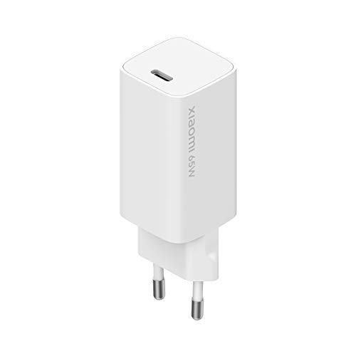 Xiaomi Mi 65W Fast Charger with GaN Tech, Charger for Smartphones and Notebooks, Compatible with Xiaomi/Apple/Huawei/Asus/HP/Lenovo/Dell Laptops, USB-C Cable Included