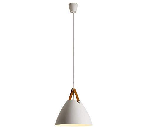 CMDDYY Moderner minimalistischer Kronleuchter-skandinavisch modern, kreativ, Einstellbarer, schmiedeeiserner Kronleuchter, Wohnzimmer Esszimmer-Deckenlampe Schlafzimmer rund Einkopfleuchter,White