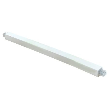 Ez-Flo 15194 36 Inch Plastic Towel Bar - Solid White, Made To Be Cut To A Desired Length