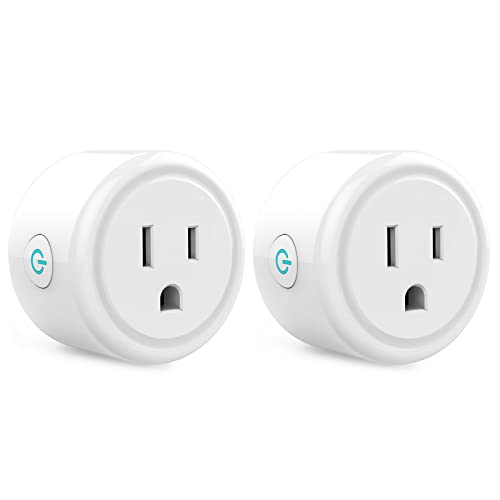 Mini Smart Plug, WiFi Outlet Socket Work with Alexa and Google Home, Remote Control, No Hub Required, 2.4G WiFi Only Etl Fcc Listed (2 Pack)