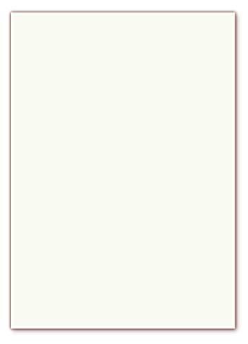 100 x GOHRSMÜHLE Premium Briefpapier im DIN A4 Format (210 x 297 mm) Grammatur 110g/m² mit echtem Wasserzeichen, Farbe matt weiß leicht cremefarben