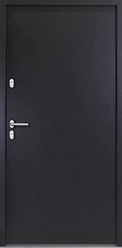 kuporta Aluminium Kellertür Hannes 100 x 200 cm DIN links anthrazit mit Drücker/Drücker