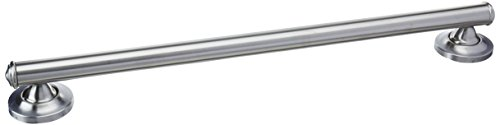 Moen LR8724D1GBN Home Care 24-Inch Designer Bath Safety Bathroom Grab Bar with Curled Grip, Brushed Nickel