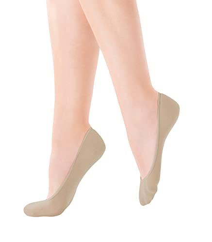 Pretty Polly Damen Cotton Footsie 2pp Füßlinge, 100 DEN, Beige (Nude Nude), Medium (Herstellergröße: SM) (3er Pack)