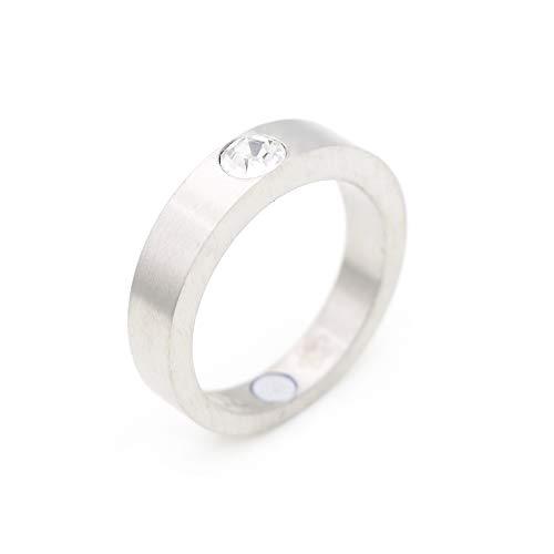 Solitärring silber Energetix 4you 1470 Magnetring massiv mit Original Solitaire Swarovski Kristall Magnetix Vintage Fashion Ring Größe 16