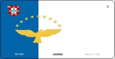Koopje Wereld Azoren Vlag Nieuwigheid Fiets Plaat (Met Sticky Notes)