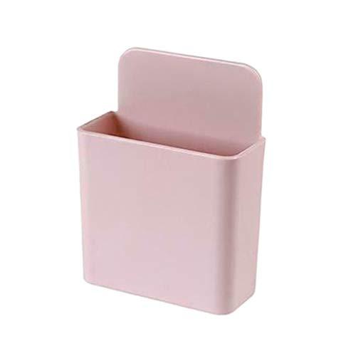 FLAMEER Soporte de Control Remoto Adhesivo Soporte de Caja de Almacenamiento Multimedia para Llaves, Maquillaje, artículos Diversos - Rosa