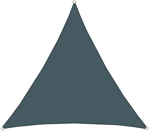 wuquansy Toldo UV poliéster triángulo Repelente de Agua a Prueba de Intemperie Balcón-Gris Oscuro_3 * 4 * 5m