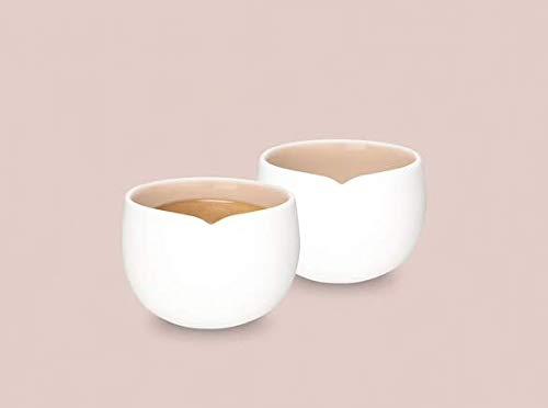 Nespresso Origin Collection 2 Espresso-Kaffeebecher-Set, weißes Porzellan, Neu