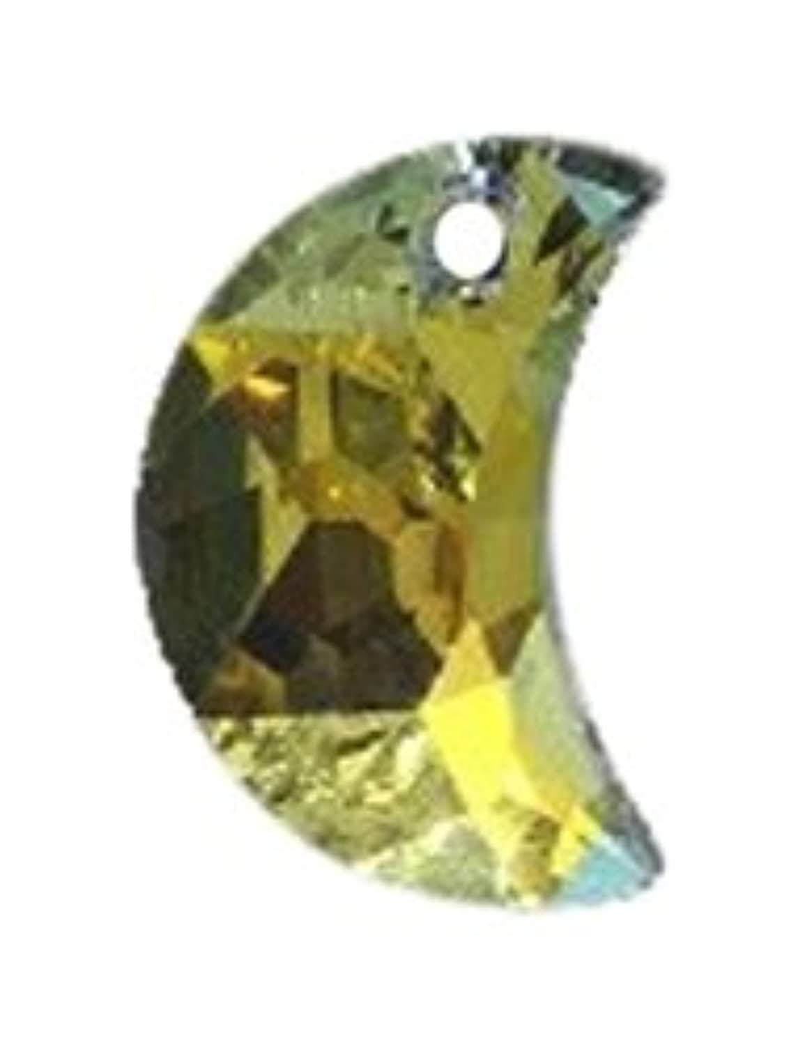 Swarovski 6722 Moon Shapes Beads, Aurora Borealis, Crystal, 16mm, 2 Per Pack