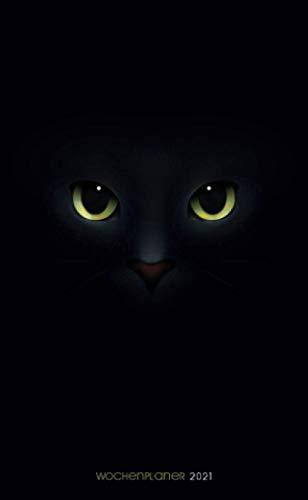 Wochenplaner 2021 - Schwarze Katze - Animo Agenda: Taschenkalender 2021 | Schulplaner | Kleinformat (10x16,5 cm) | Um alle Ihre Termine und Aufgaben ... bis Dezember 2021 zu notieren | 112 Seiten
