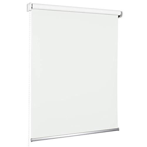 ROLLMAXXX Standard-Rollo Verdunkelungrollo Seitenzug Kettenzugrollo Tageslicht Sichtschutz (180 x 190 cm, Weiß)