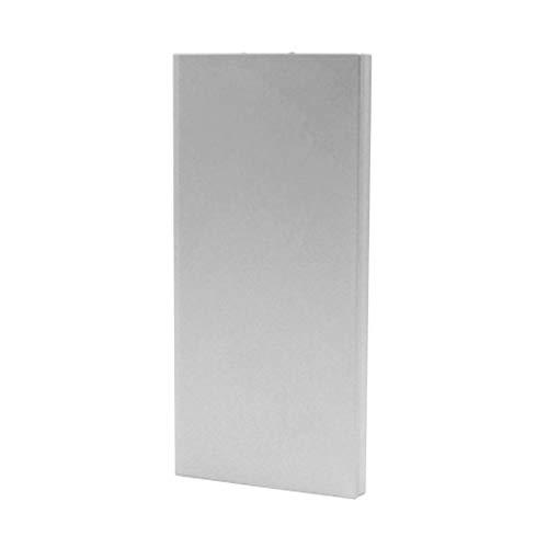 Tiowea 20000mAh draagbare externe oplader ultra dunne powerbank voor mobiele telefoon externe accu's onesize zilver