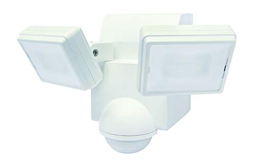 Great Deal! LB1870QWH 700 Lumen Battery Operated LED Motion Security Light, Twin Head (Includes L-Br...
