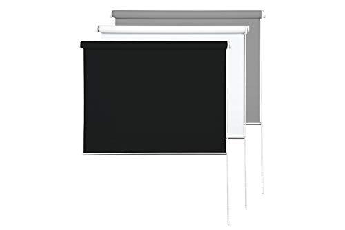 Sunce24 Verdunkelungsrollo Lichtundurchlässig Thermo Sichtschutz Rollo 90 x 200 cm, schwarz