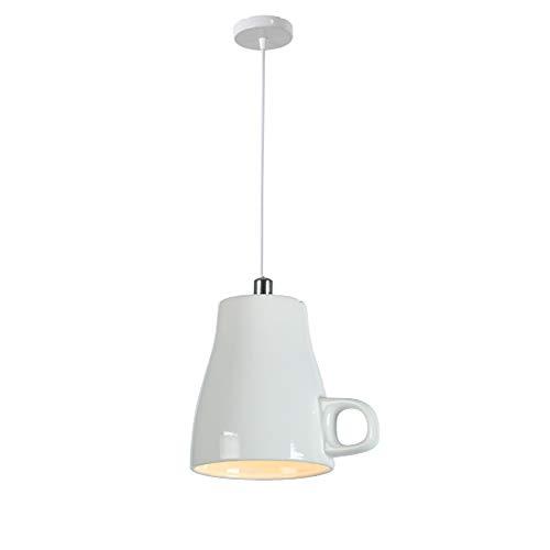 MX Teekanne Deckenleuchte Kreative Teetasse Modellierung Hängeleuchte Mini Handwerk Keramik Persönlichkeit Pendelleuchten Indoor LED Schlafzimmer Wohnzimmer Deco Hause Beleuchtung,I