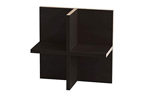 Ikea Kallax Expedit Regal CD Einsatz Regalkreuz Fach Fachteiler für 60 CDs Rückwand gegen Durchrutschen CD-Regal CD-Storage Aufbewahrung Regaleinsatz 33,5 x 33,5 x 16 cm Farbe Schwarzbraun Schwarz