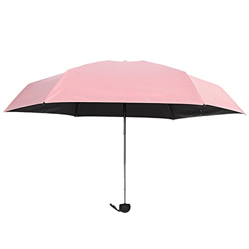 6 cápsulas de hueso Mini suela paraguas anti-UV Pocket 50 Paraguas plegable-Rosa_20 centímetros