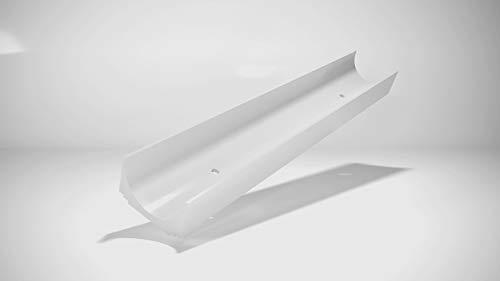 Aloha Gardinenschiene aus Aluminium Vorhangschienen, Deckenbefestigung 1-läufig für Schiebevorhänge, Vorhänge (ITU/Schienenverbinder)