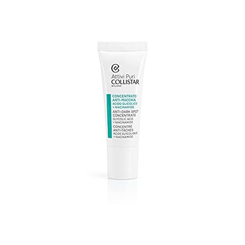 Collistar Attivi Puri Concentrato Anti-macchia Acido Glicolico + Niacinamide, Trattamento Viso contro macchie da iperpigmentazione da sole, invecchiamento, acne, Non adatto a pelli sensibili, 25 ml