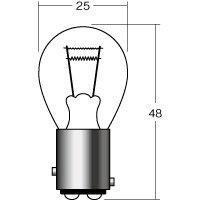 ソケット規格:S25 BAY15D 一般球 定格:12v10/5w カラー:クリア 内容:1個入り 用途:ウインカー/テールバルブ・ポジションバルブ等