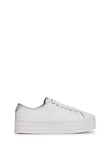 Guess FL7BU2 - Zapatillas deportivas con cordones de piel sintética para mujer blanco 38