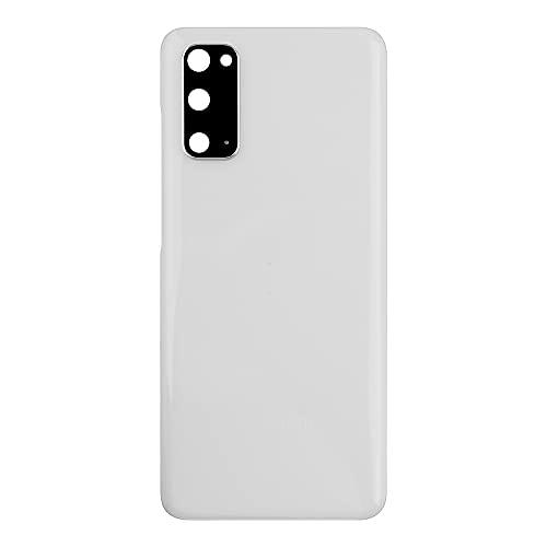Vvsialeek Tapa trasera compatible con Samsung Galaxy S20 SM-G980 SM-G980F SM-G980F/DS, color blanco