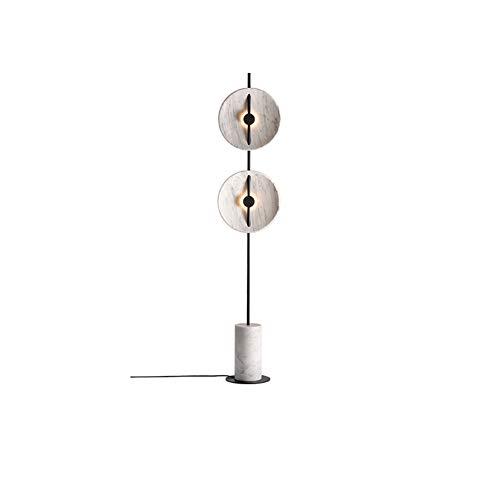 Lámpara de pie moderna Jazz blanco mármol lámpara de pie dormitorio noche lámpara salón estudio arte decoración lámpara 2 vertical lámpara de mesa gris