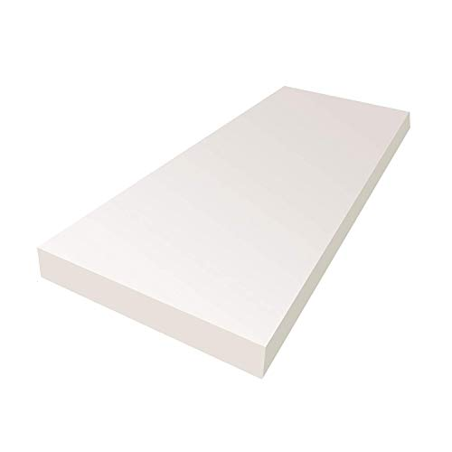 FoamLove 3'H x 24'W x 72'L Upholstery Cushion Foam, High Density, Made for Body Comfort, Designed for Heavy Traffic and High Use Applications