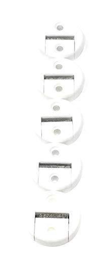 jkhandel 5x Gurtführung maxi rund weiß für 23 mm Gurt mit Bürste zweiteilig - kein Gurtausbau nötig
