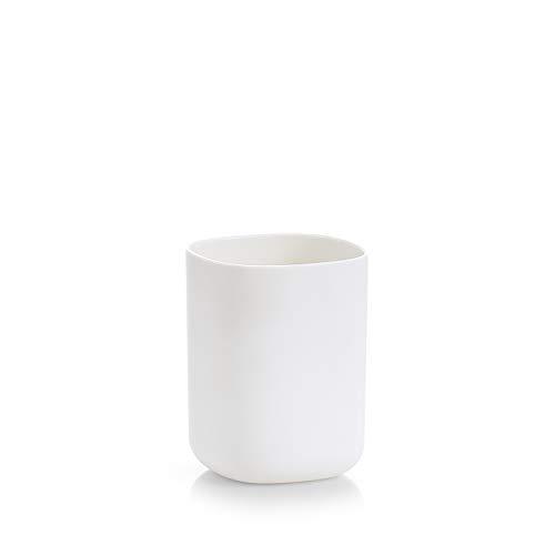 Zeller 18790 Zahnputzbecher, Kunststoff, Weiß, ca. 7,3 x 7,3 x 9,5 cm